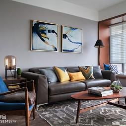 三居北欧风格客厅沙发设计图