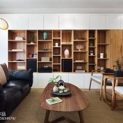 禅意新中式客厅博古架设计图