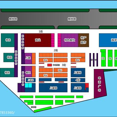 商业广场平面布局设计_2825248