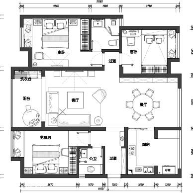 泰鑫文化公园三室两厅户型_2825425