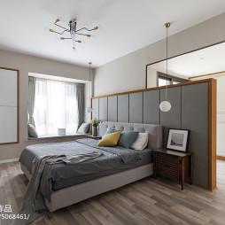 简欧三居卧室设计图