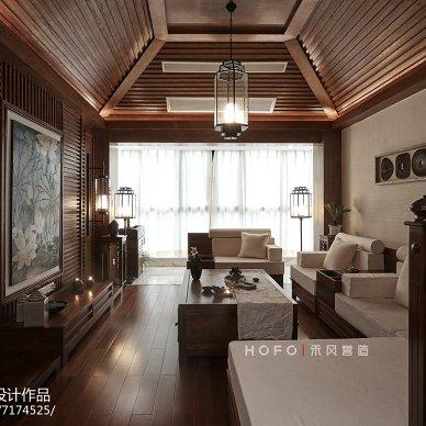 221㎡东南亚客厅设计效果图