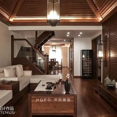 221㎡东南亚客厅设计