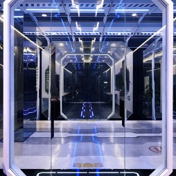 OMG电子竞技俱乐部走廊设计图