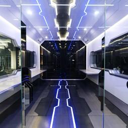 OMG电子竞技俱乐部走廊设计图片