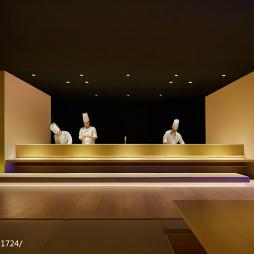 混搭风餐饮空间寿司台设计图