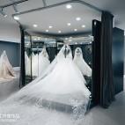 混搭风格婚纱店试衣台设计图片