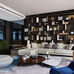 现代样板间客厅设计图