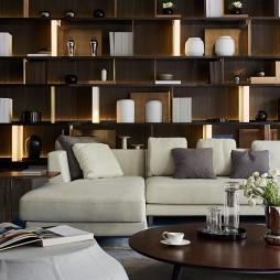 现代样板间客厅博古架设计图