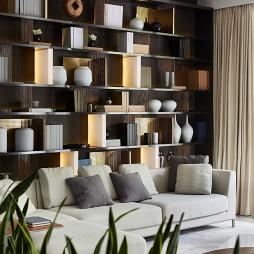 现代样板间客厅博古架设计图片