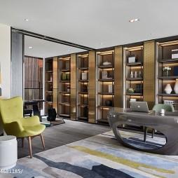 现代样板间书房设计图