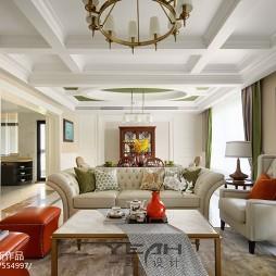 美式豪宅客厅设计效果图