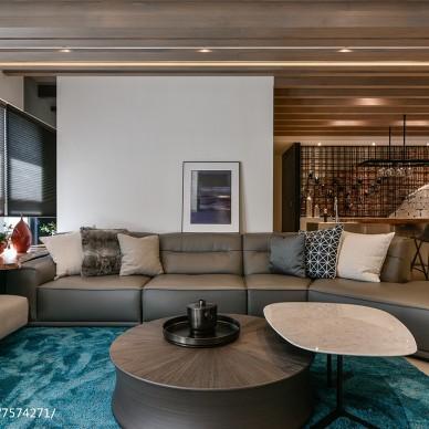 现代二居客厅沙发设计图