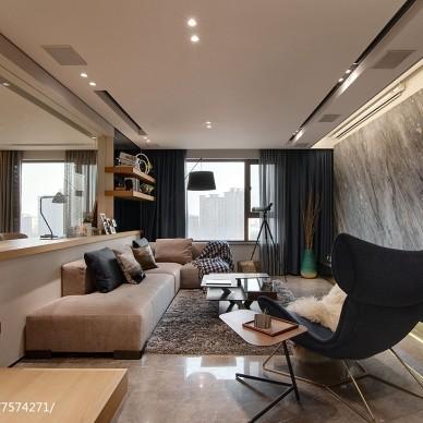 现代风格二居客厅设计图