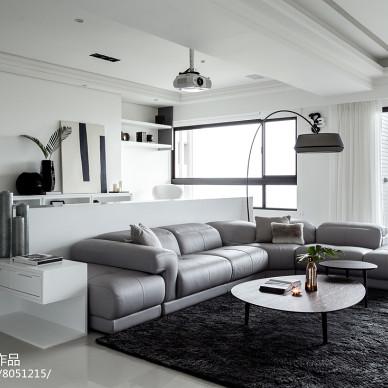 现代风格四居客厅设计图