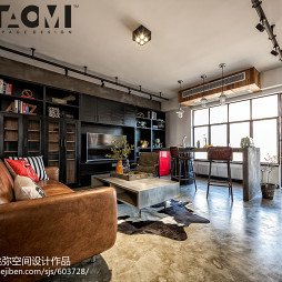 混搭风格三居客厅设计图片