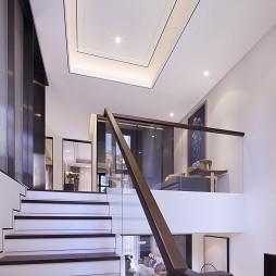 中式样板间实景楼梯设计图