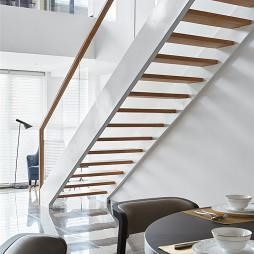 现代风复式楼梯设计图