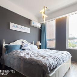 350㎡现代北欧风展厅卧室设计图