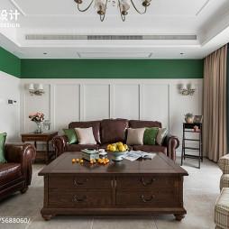 195㎡美式客厅设计图