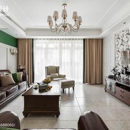 195㎡美式客厅设计图片