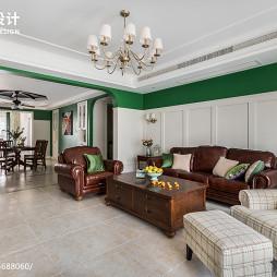 195㎡美式客厅设计效果图