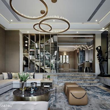 别墅样板房客厅设计图