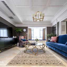 美式风三居客厅设计效果图