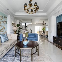 美式复式客厅设计图片