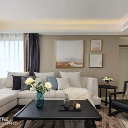 休闲现代三居客厅沙发设计图