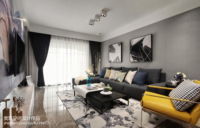 简单现代三居客厅设计图