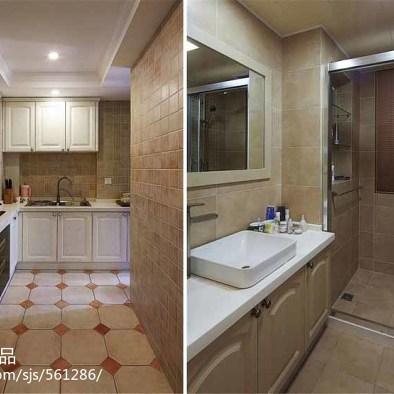 118平米欧美风格三居室装修