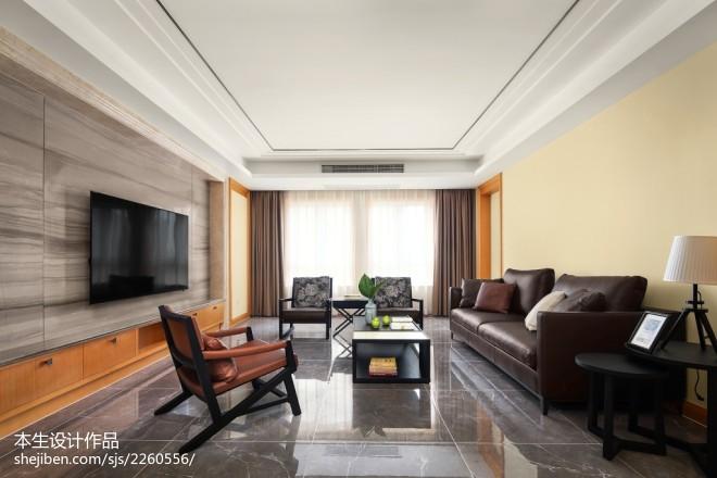 素雅现代三居客厅设计图