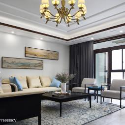 现代风三居客厅沙发设计图