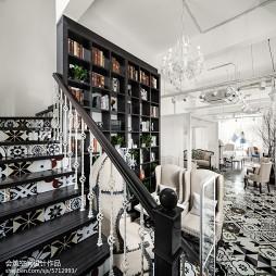 润通尚城咖啡厅书架设计图片