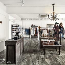 润通尚城咖啡厅衣服展示区设计图