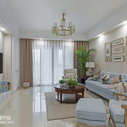 三居美式客厅设计效果图