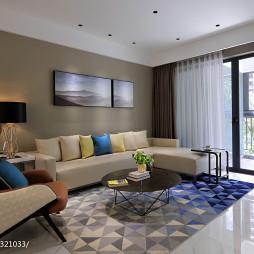 简单现代复式客厅设计图