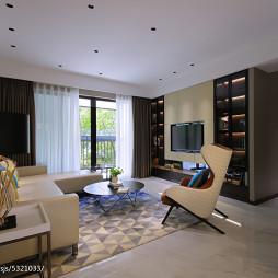 大气现代复式客厅设计效果图