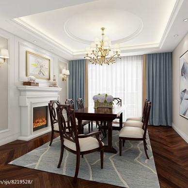 【蓝桥春雪】美式风格住宅空间设计_2910980