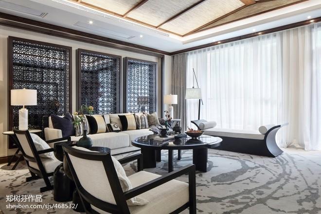 东南亚风格豪宅客厅设计图