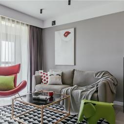 清新北欧二居客厅沙发设计图