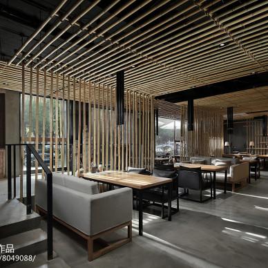 竹里馆中餐厅桌椅摆放设计图