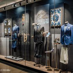 商务西装店橱窗展示设计图