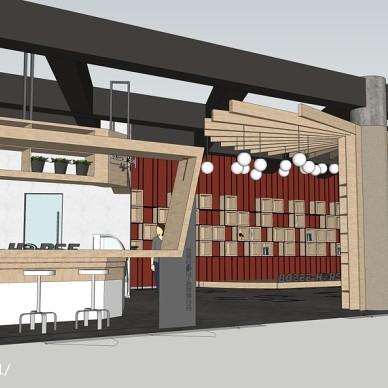 赤兔咖啡厅(施工方只做出了设计的形,改了材料丢了设计的魂)_2921024