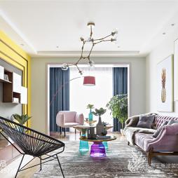 现代三居小型客厅设计图片