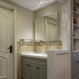 美式三居小卫浴设计图片