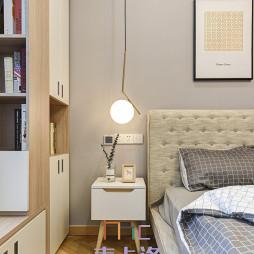 北欧风三居卧室床头灯设计图