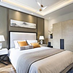 中式别墅卧室设计效果图