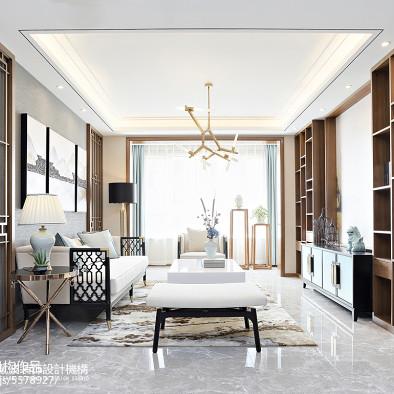 新中式风格别墅样板房设计实景图_2930723